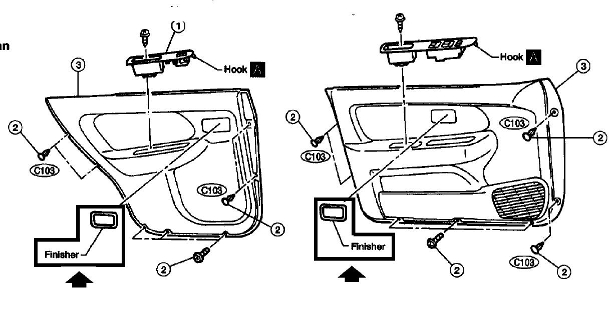 Service Manual  2009 Nissan Altima Front Door Panel Removal