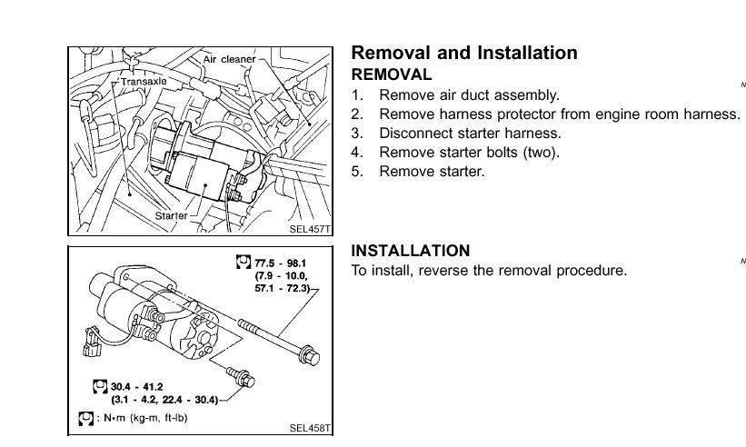 How To Opennissan Maxima Starterrhjustanswer: 1997 Nissan Maxima Starter Location At Gmaili.net