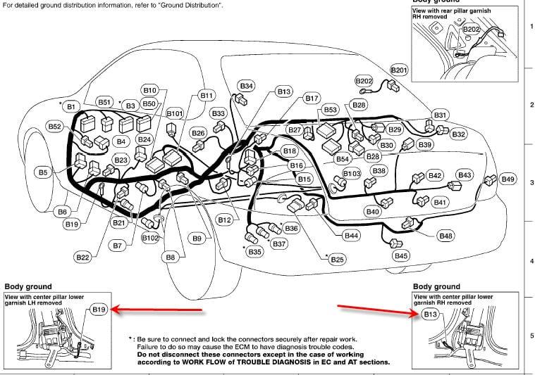 2003 nissan sentra 2 5 ground wiring diagram on engine