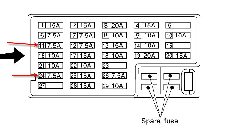 2005 Nissan Pathfinder Fuse Box Diagram   39 Wiring