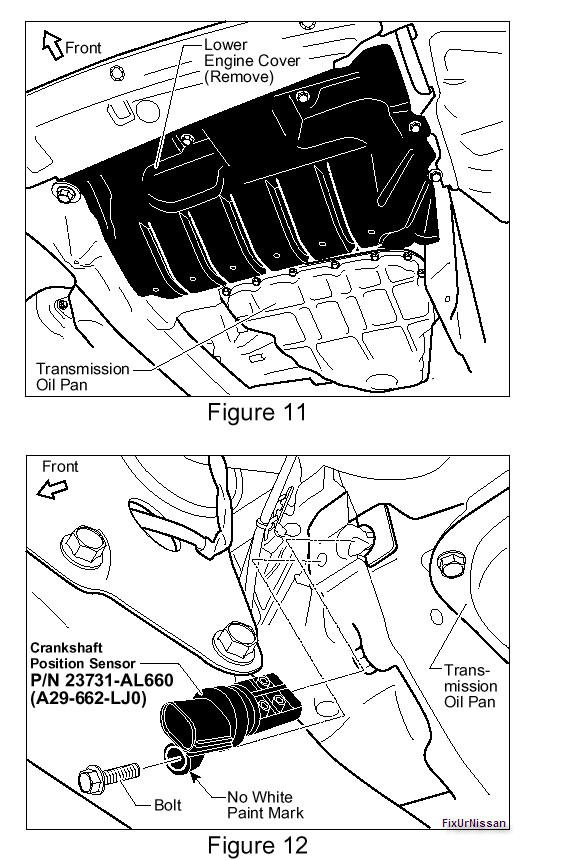 Where Is The Crank Sensor Located On An 03 Maxima Thank You For Rhjustanswer: 2002 Nissan Maxima Crank Sensor Location At Elf-jo.com