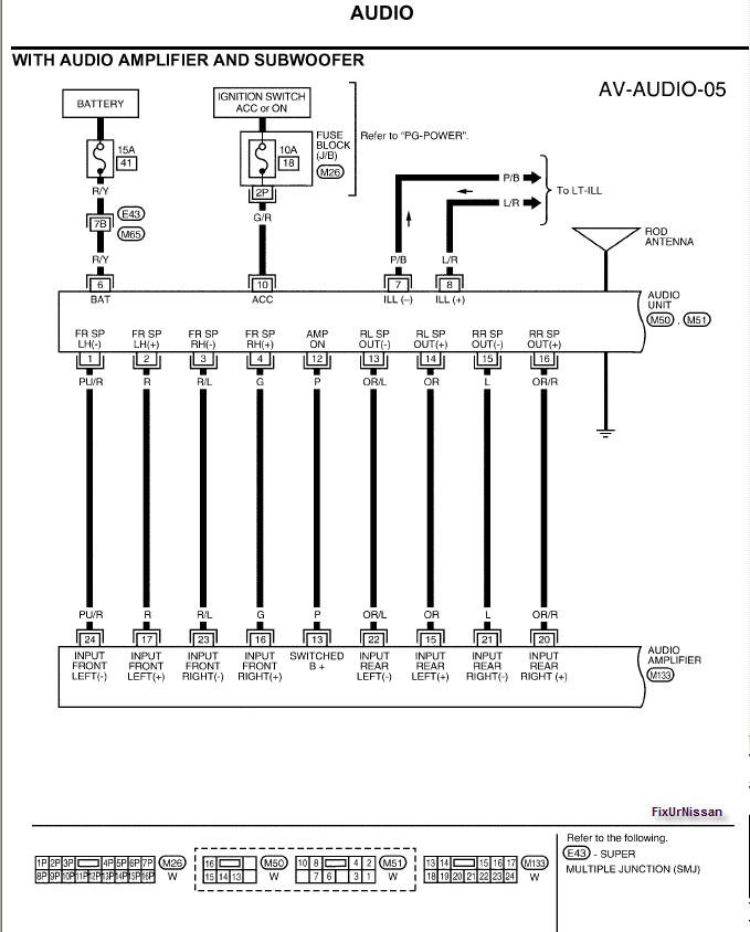 2010 02 13_005503_03_Xterra_Fosgate_audio_diagram nissan stereo wiring harness wiring diagram simonand 2011 nissan xterra wiring diagram at creativeand.co