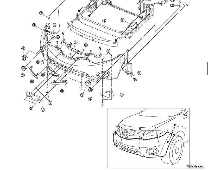 i need to know how to safely take apart the front bumper of 2003 Nissan Pathfinder Front Bumper Diagram 2003 nissan frontier front bumper
