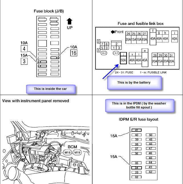 Nissan Quest Fuse Diagram Wiring Diagrams Schematics