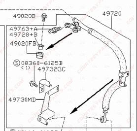 2000 Nissan Altima Pump Location