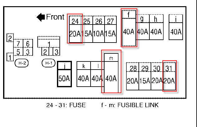 i have a 2005 nissan quest and the two front door windows ... fuse box for 2003 nissan altima