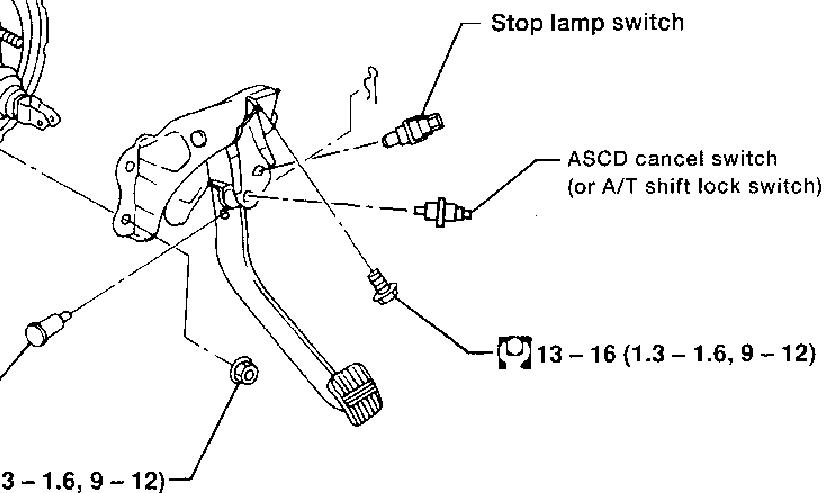 1995 nissan altima gxe  brake lights stay on continuously