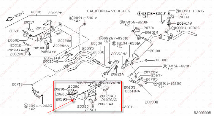2001 nissan maxima catalytic converter diagram basic guide wiring just replace a catalytic converter now the exhaust pipe coming rh justanswer com 2000 maxima gle publicscrutiny Gallery