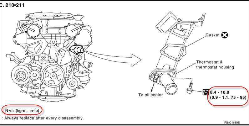 service manual  thermostat removal 2006 infiniti q