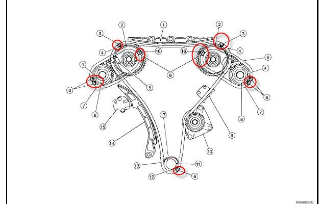 5l38y Nissan Datsun Xtrail Replaced Cam Crank Position likewise 47pqe Nissan Pathfinder Pathfinder V6 4 0 2007 P0183 likewise 611478 2000 Nissan Maxima Speed Sensor Location also Infiniti G35 Engine Diagram furthermore 2005 Chevy Tahoe Knock Sensor Location. on 2003 nissan altima crank sensor location
