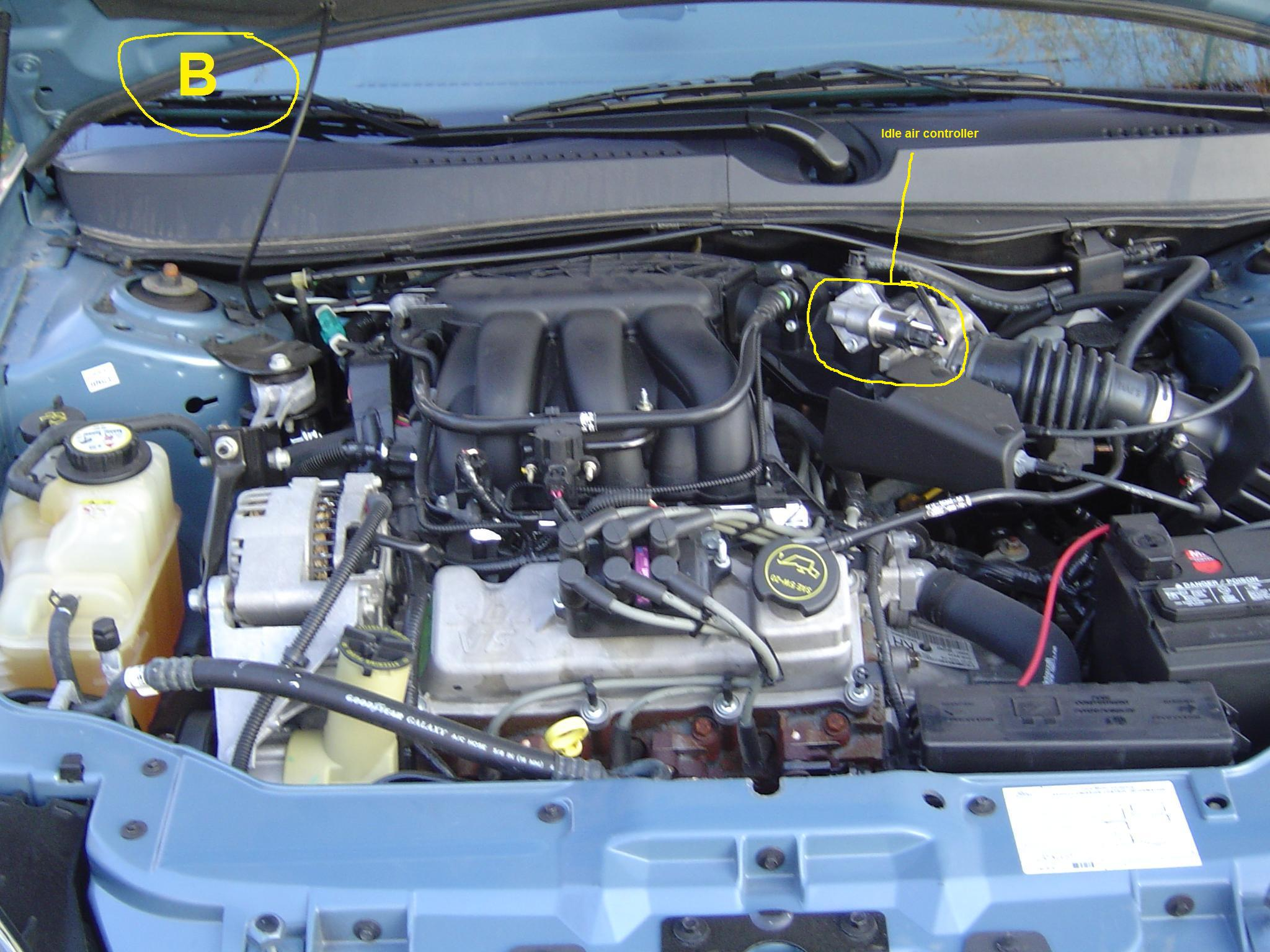 I have A 2003 ford Taurus 3.0 liter it idles up and down ...