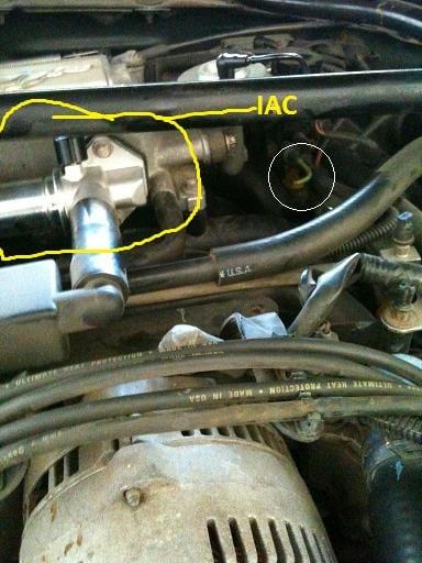 96 Mustang Gt runs fineair conditioning offengagedmaf sensor