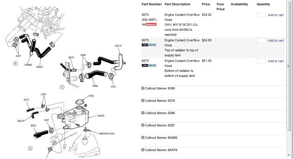 34 2002 Ford Taurus Radiator Hose Diagram