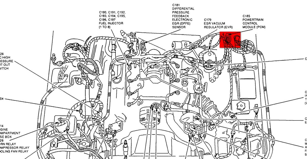 2001 Mercury Sable Engine Diagram further 1j3en Need Vacuum Hose Diagram 1999 Nissan Quest further 98 Lincoln Engine Diagram additionally 99 Camry Fuse Box further 131727 Oil Pressure Sending Unit Location. on 1999 mercury sable crankshaft sensor location