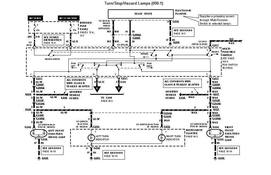 ford van directional turn signal dong loud dang relay 2001