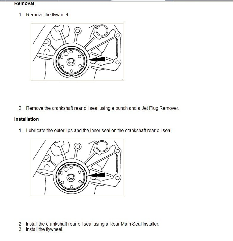 How do I replace the rear main seal on a 99 ford ranger automatic  3