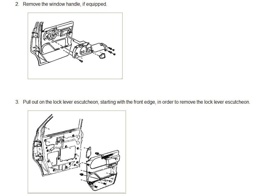 1998 Chevy Astro Minivan Drivers Door Handle