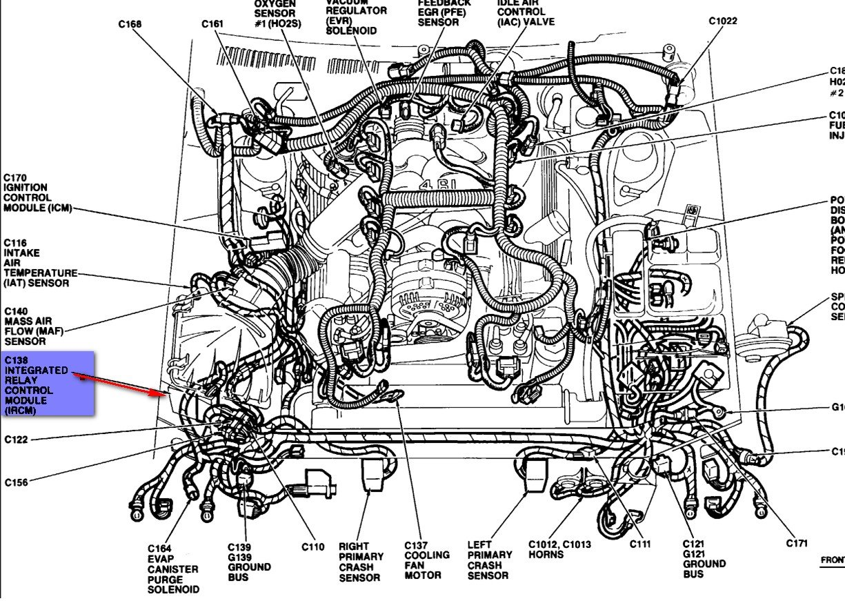 1992 Ford Thunderbird Fuel Diagram Expert Schematics 92 Fuse Box Where Is The Ircm Located On A 95 Car Stalls And 1998
