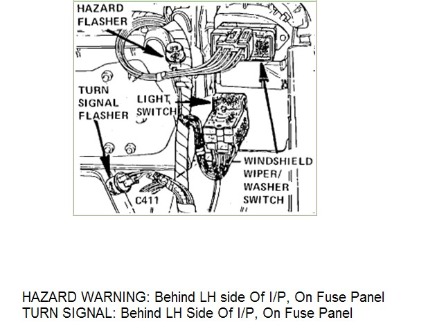 Where Is The For The Turn Signals On A 1086 Ford E150 Van