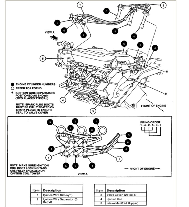 How to change spark plugs and wires on a Ford taurus, 1998 ...