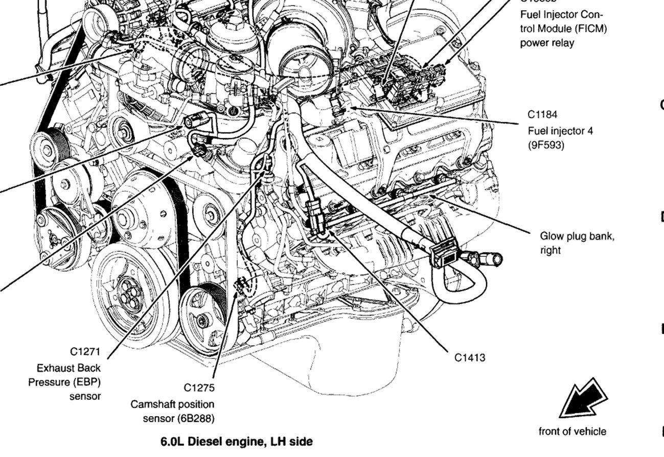 2003 Ford F250  With 6 0 Litre Diesel  Cam Sensor  I Prefer A Diagram