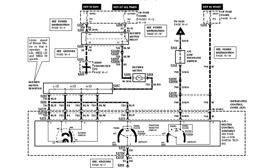 i need a wiring diagram for a heater blower fan for 1997