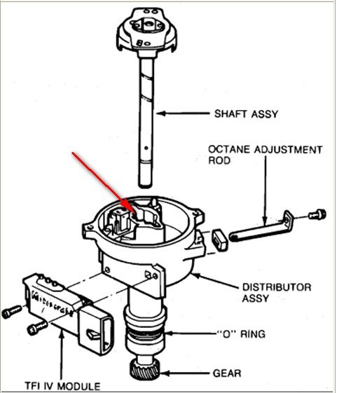 ford 4 9 inline 6 engine diagram do you have to remove the distributor to replace the ... 84 ford 4 9 distributor wiring #5