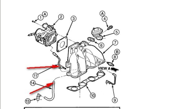 I Have A 1997 Ranger 23 With The 8 Spark Plugs Removed. Full Size. Ford. Rubber Intake Hose Diagram 2003 Ford Ranger At Scoala.co