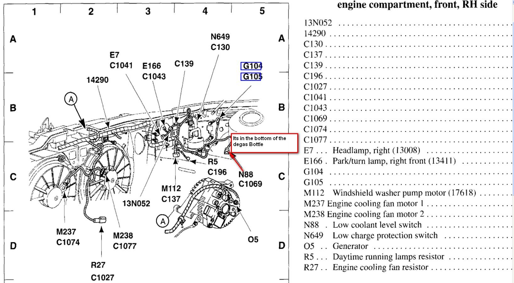 2002 Mercury Sable  Coolant Warning Light Came On