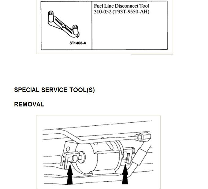 Im Changing My Fuel Filter In My 2000 Ford F150 Xlt Can U Give Me Instructions On How To Do This