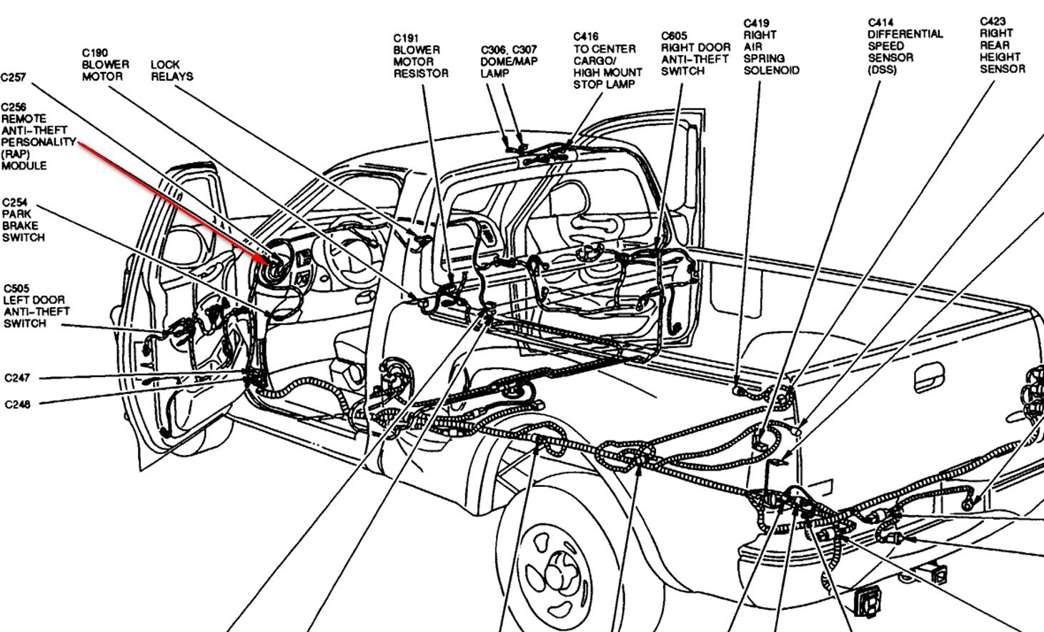 1997 F150 ext cab XLT trim. where is and how do identify the ... Rap Module Ford F Wiring Diagram on