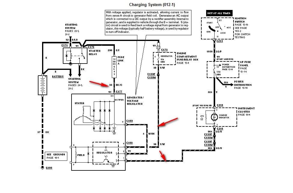 how to check ford ranger alternator part 2 how to test the ... 1997 ford ranger alternator wire diagram ford ranger alternator wiring diagram 2010 #5