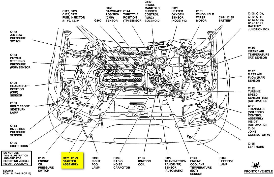 ford ranger evap canister location