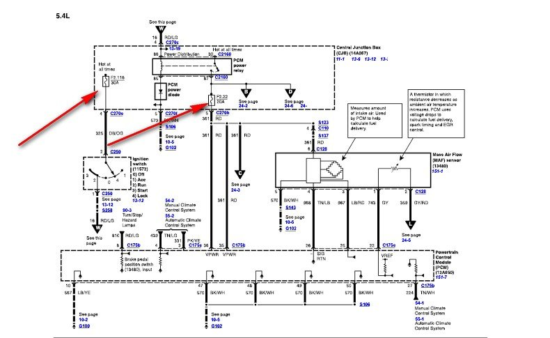 i have a e350 van 5 4 motor    the fuel system stopped