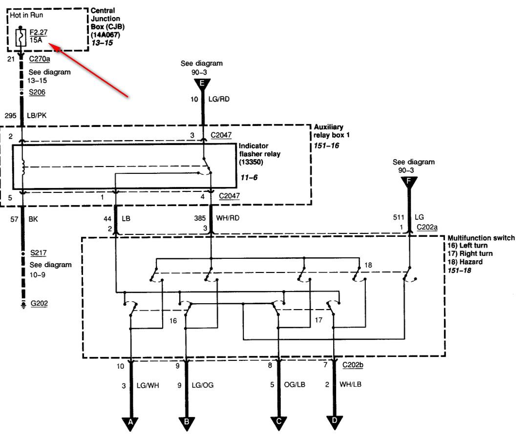 2005 F350 Diesel No Turn Signals  No Indicator Light