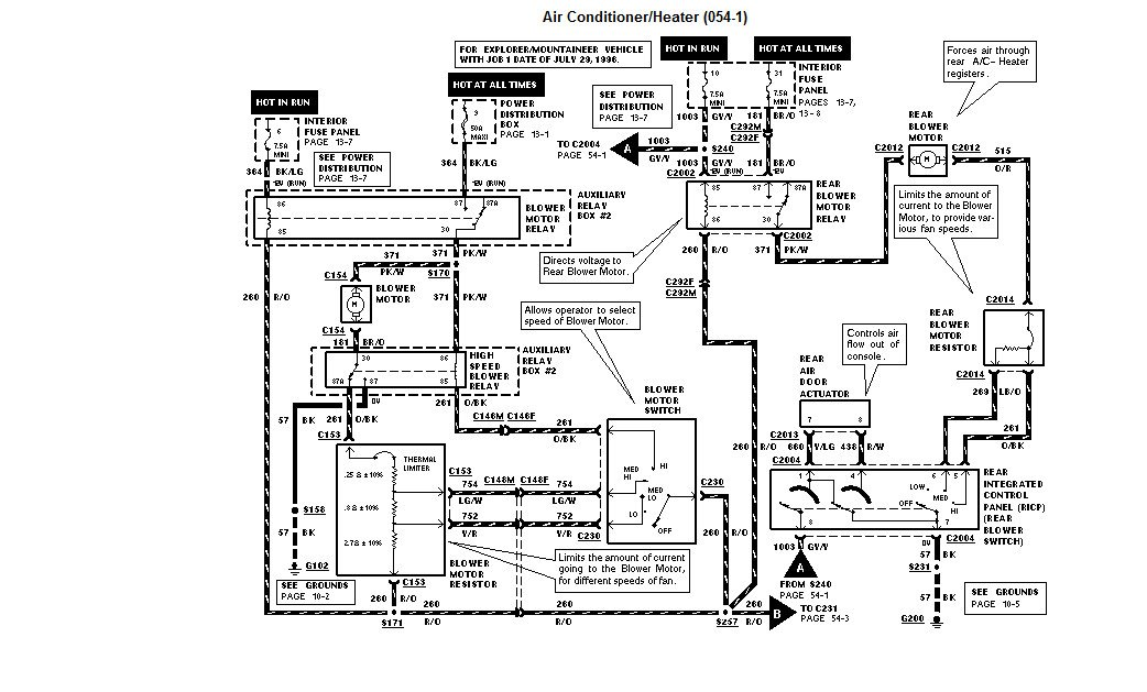 I Need The Actual Location And Wiring Diagram For Heater Relay Rhjustanswer: Ford Explorer System Wiring Diagram At Gmaili.net