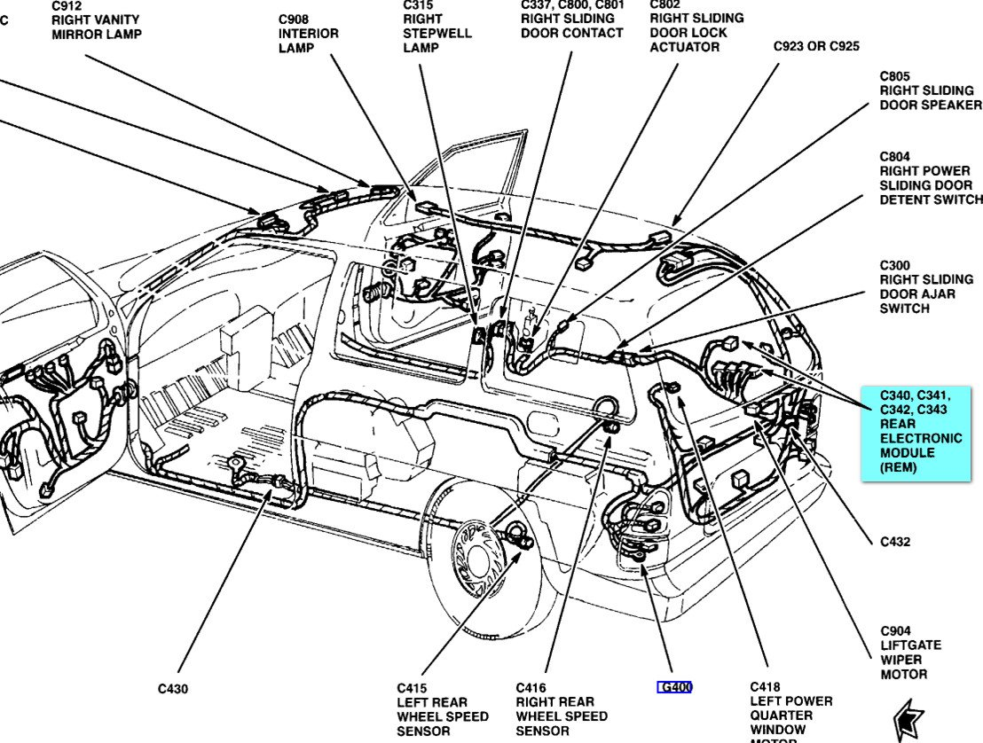 Where Is Module On 2001 Ford Windstar 2000 Wiring Diagram 100 1 Graphic
