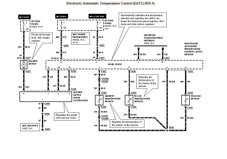 wiring diagram for 2002 mercury grand marquis i have replace blend door actuator cleared codes on eatc ...
