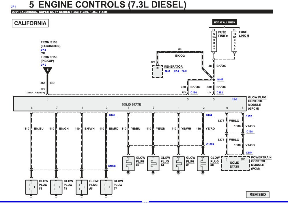 I Have A 2001 Ford Excursion 73 L Diesel Error Code Dtc 01 Rhjustanswer: Ford Powerstroke Glow Plug Wiring Diagram At Elf-jo.com