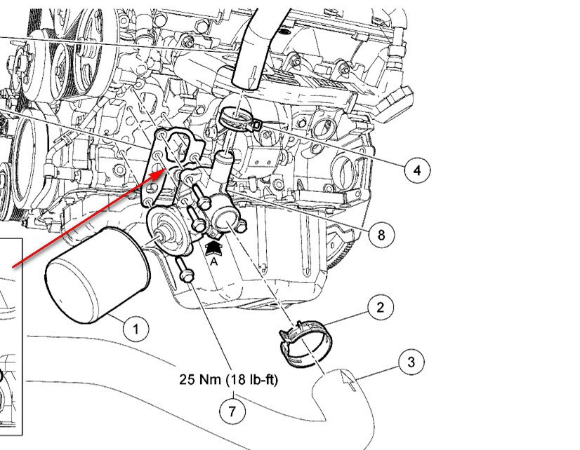 service manual  2010 ford explorer oil filter housing