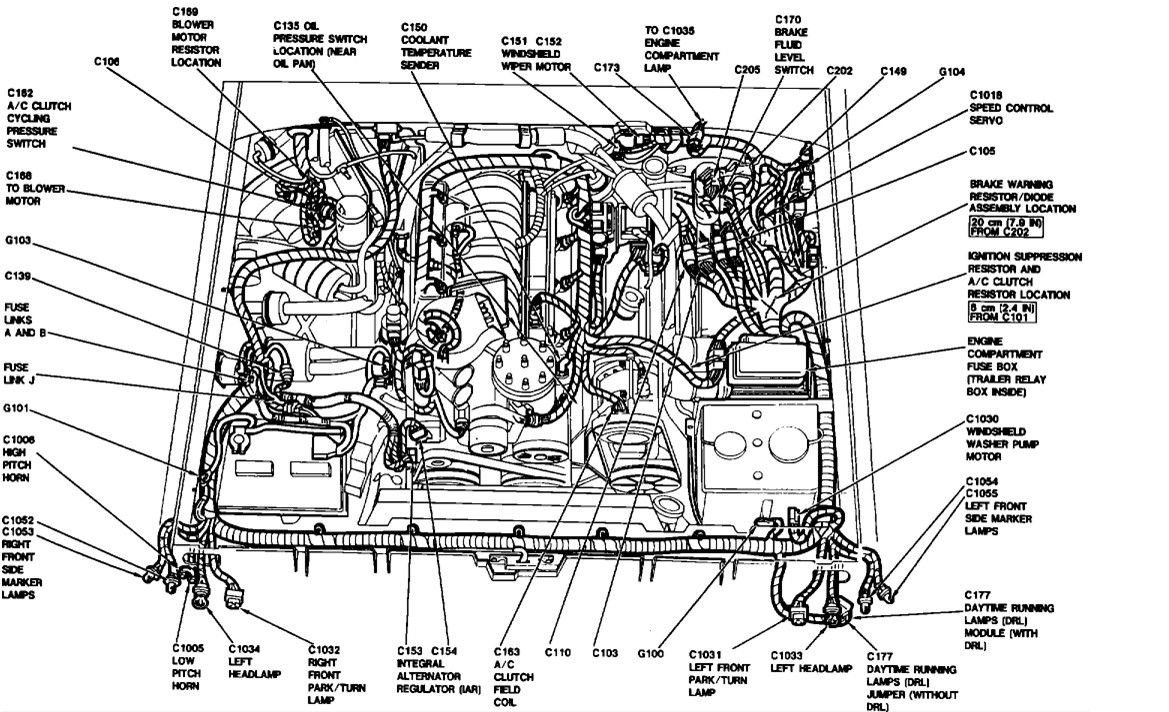 wiring diagram 1988 ford f 150 engine compartment diagram