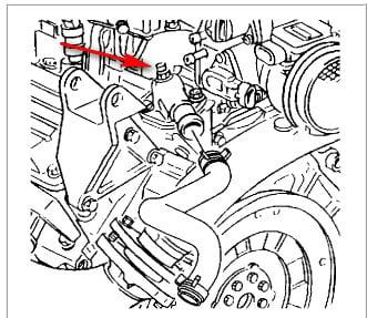 where is the coolant system bleed screw on the pontiac 3 8l v6 rh justanswer com 2005 Pontiac Grand Prix Exhaust Diagram Pontiac Grand Prix Parts Diagram