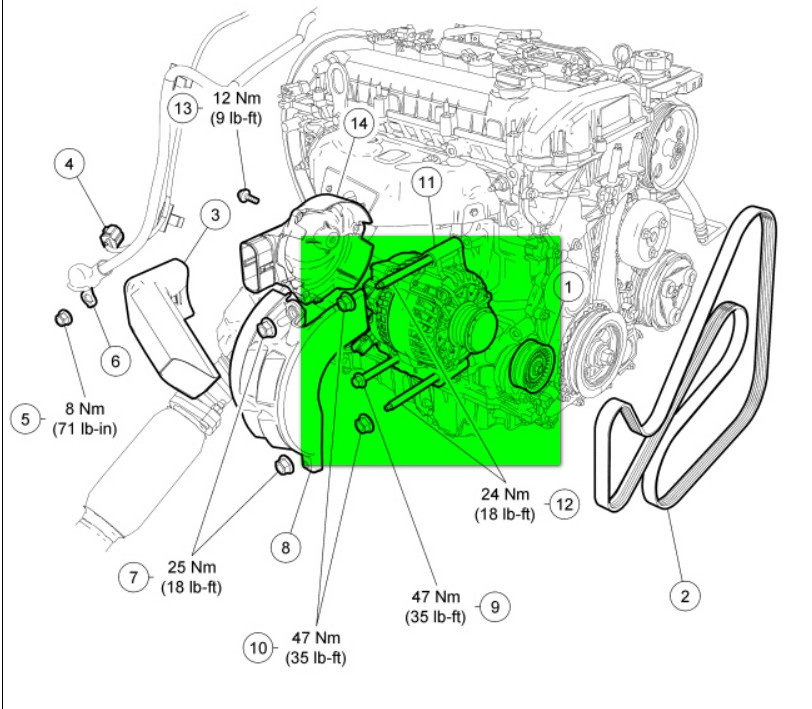 2012 ford focus alternator wiring changing the alternator on 2006 focus: directions say if ... 2012 ford focus starter wiring diagram