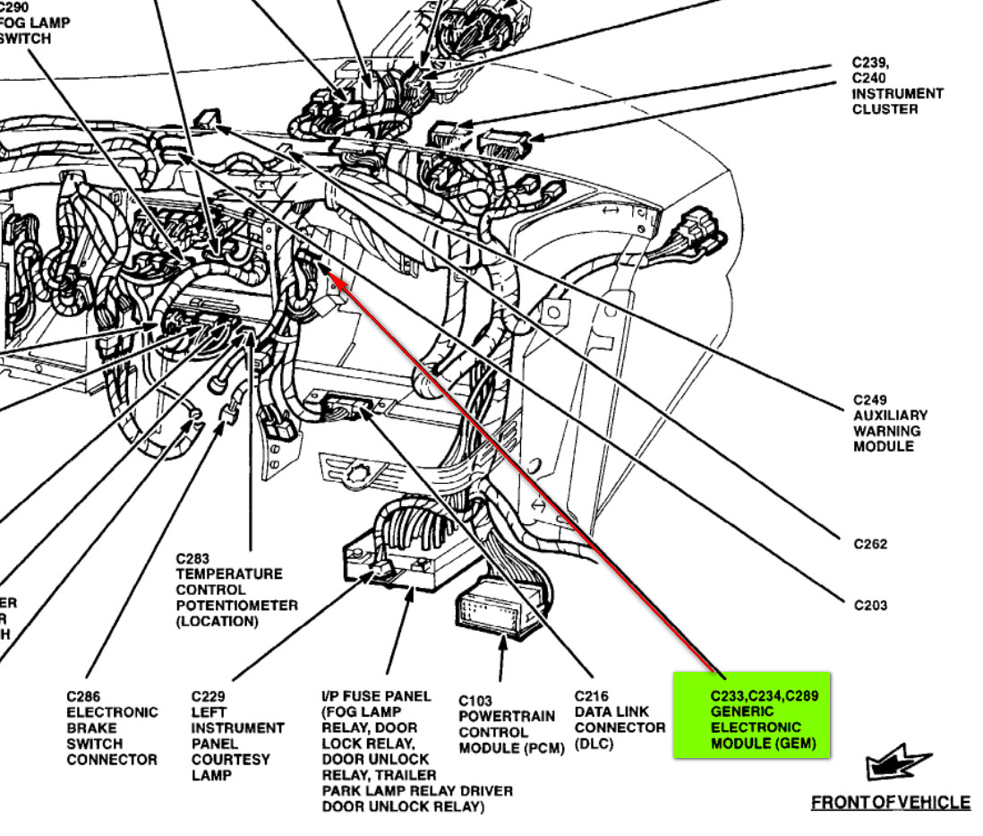 1998 Ford Windstar Engine Diagram Not Lossing Wiring Fuse Box For 2001 I Have A 98 The Front Wipers Will Stop It Seems To Be Rh Justanswer Com 1999 Parts