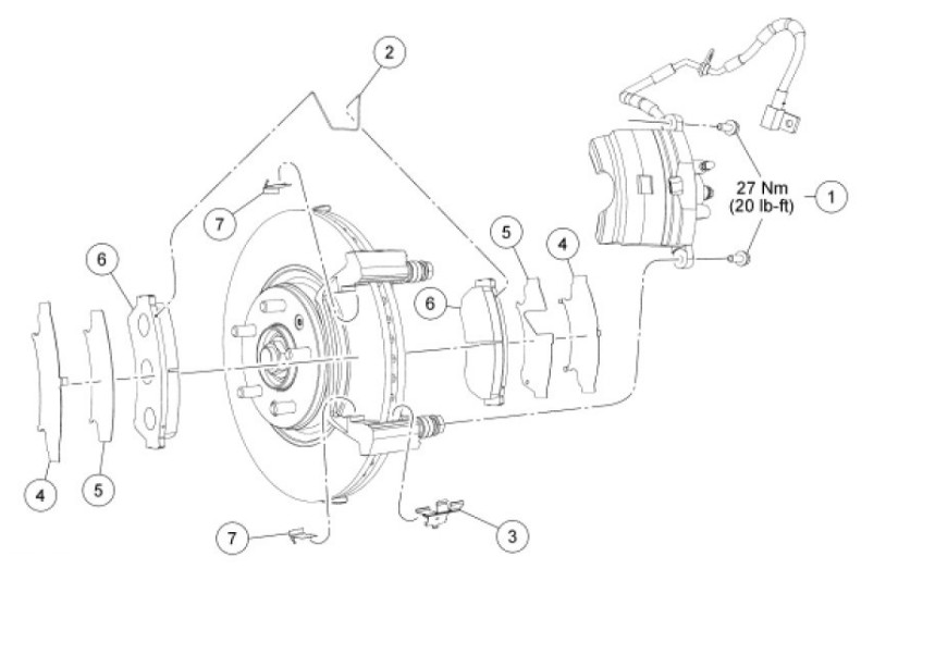Brake Rotors And Pads >> 09 fusion SEL 4 cyl. Brakes ?: how necessary are the spring clips on the front calibers that go ...