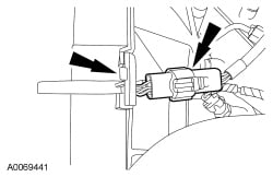 The Plastic Shroud That You Gently Pull Back And Lift Front Of Connector Up Slide It Towards Radiator Below Is A Picture Thanks