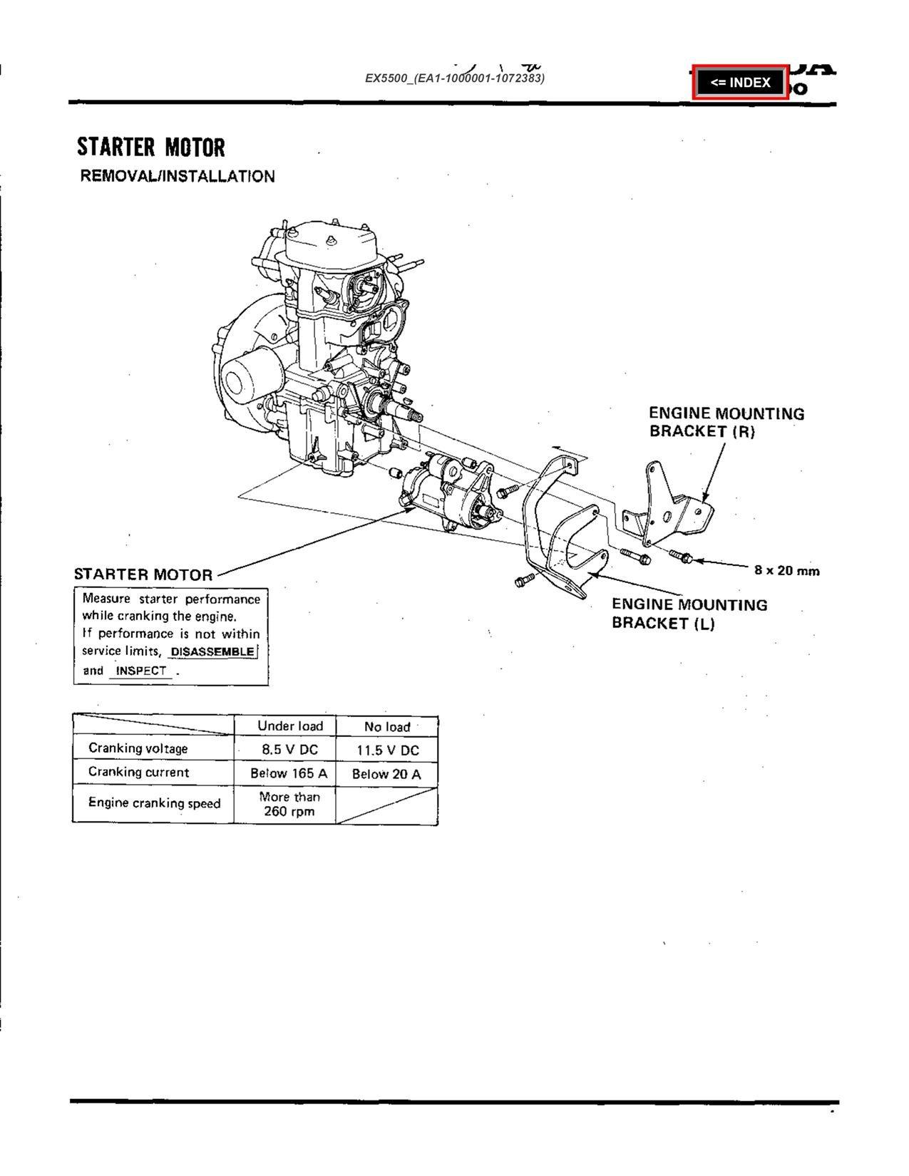 how do i remove the starter from my honda ex5500 generator rh justanswer com EX5500 Honda Engine honda el5000 es6500 ex5500 generator service repair shop manual