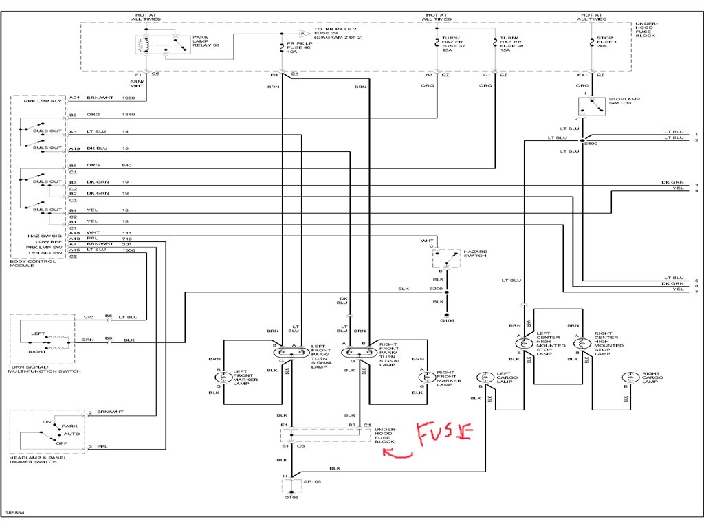 i have a 2004 chevy colorado both front turn signals do not Chevy Colorado Wiring Schematics Chevy Colorado Wiring Schematics #91 chevy colorado wiring schematic