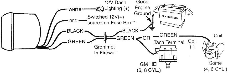 Chevy 350 Tachometer Wiring - Wiring Diagram Directory on