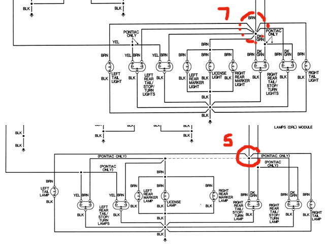 95 k2500 tail lights wire harness   33 wiring diagram